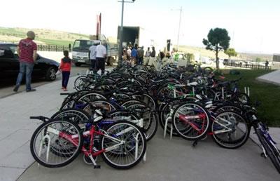 """Bicicletas recogidas en la campaña """"Sorian@s Solidarios con Bigene"""""""